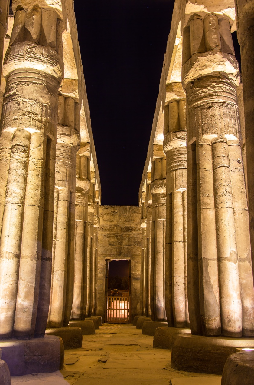 Colonnade in the Luxor Temple - Egypt