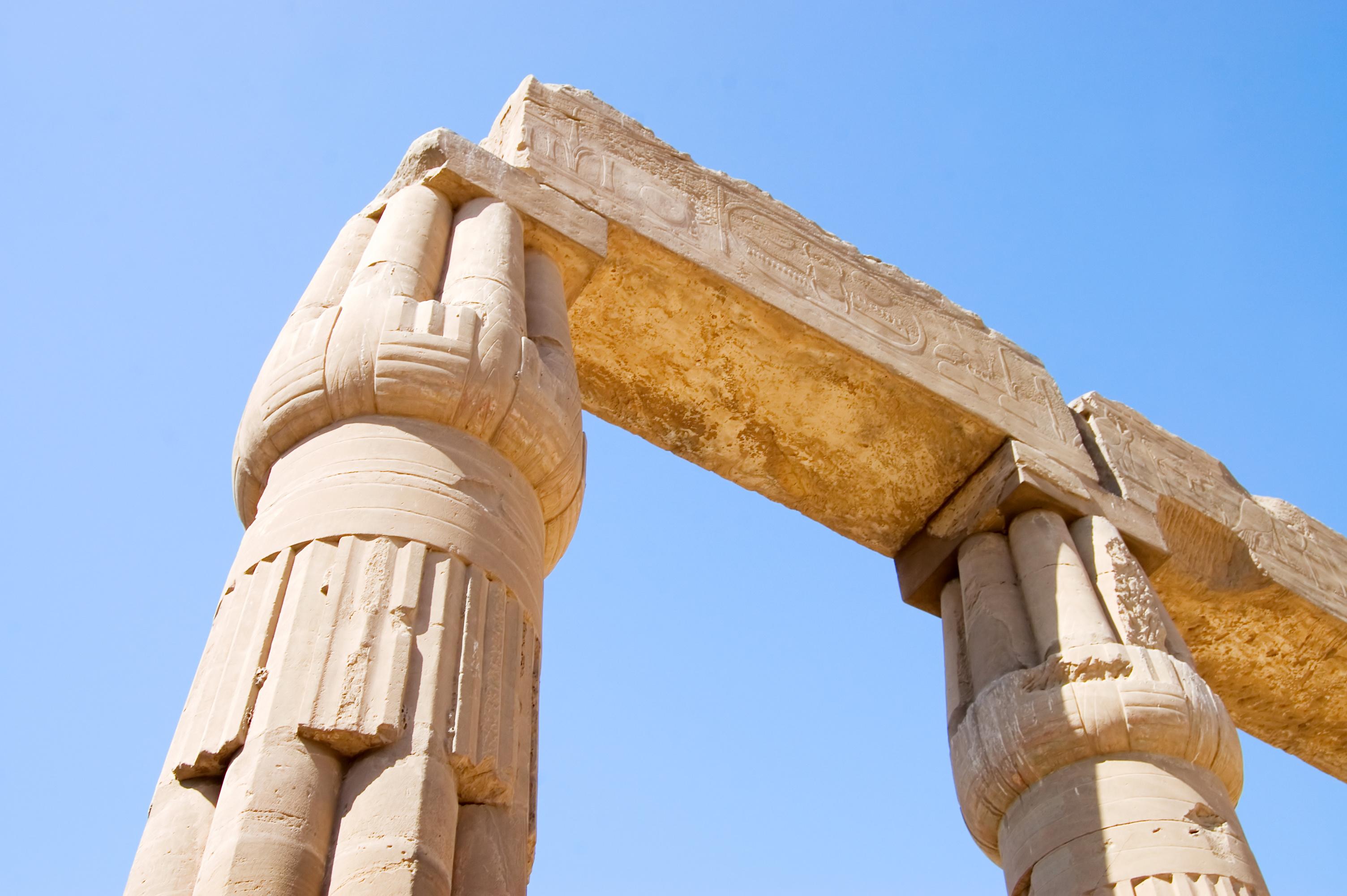 Columns at Karnak Temple, Luxor, Egypt