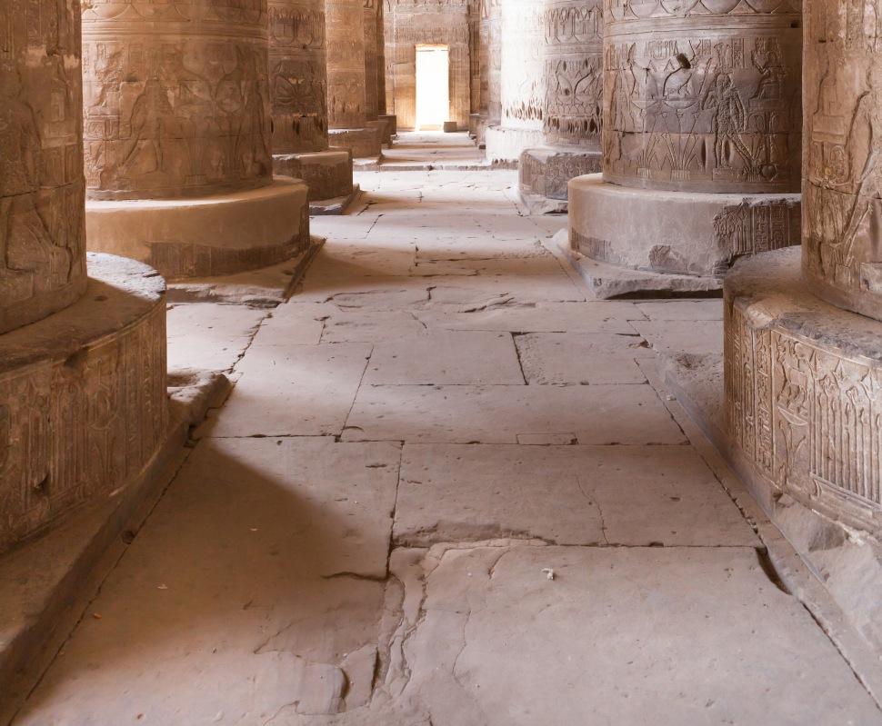 Columns In Dendera Temple