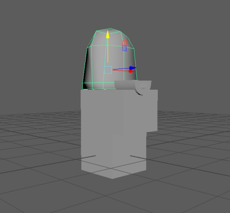 Initial low resolution model before Zbrushing.